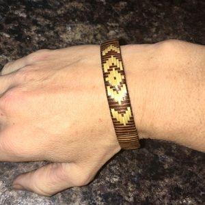 Jewelry - Wooden Weaved Wicker Bracelet Boho Wood Tribal